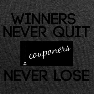 Couponing / Gifts: Winners never quit, couponers - Jersey Beanie