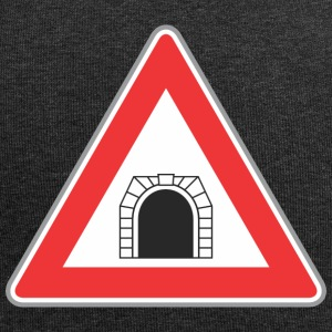 Road sign train hole red - Jersey Beanie