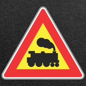Road sign train - Jersey Beanie