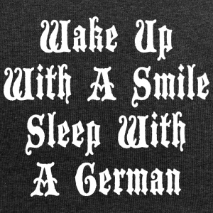 Wake Up With A Smile Sleep With A German - Jersey Beanie