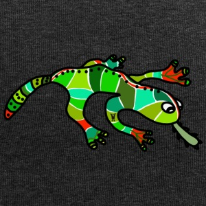 Salamander Gecko lucertola verde rosso tropicale - Beanie in jersey
