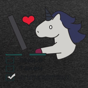 Eenhoorn: Unicorn Single, Taken of in Love met ... - Jersey-Beanie