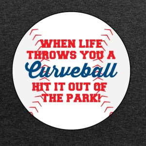 Baseball: When life throws you a curveball hit it - Jersey Beanie