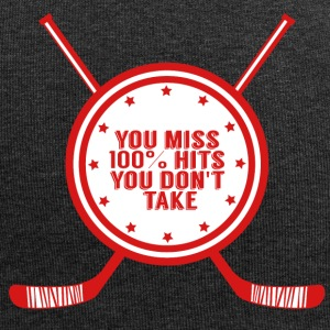 Hockey: You miss 100% hits you don't take - Jersey Beanie