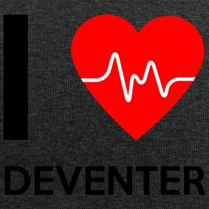 Kocham Deventer - I Love Deventer - Czapka krasnal z dżerseju