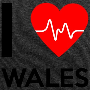I Love Wales - Ich liebe Wales - Jersey-Beanie