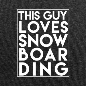 This Guy Loves Snowboarding - Boarder Power! - Jersey Beanie