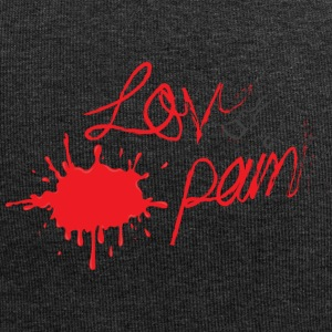 LOVE & PAIN - Beanie in jersey