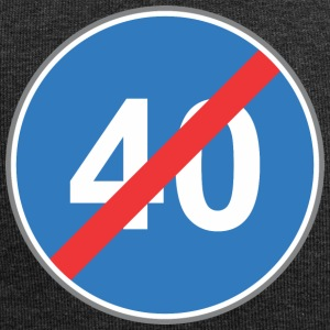 Road sign 40 restricted blue - Jersey Beanie
