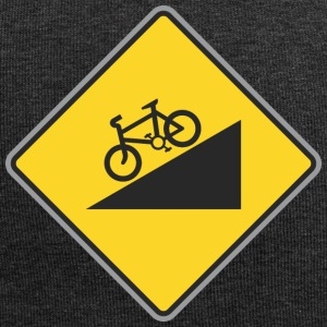 Road Sign angle bicycle way - Jersey Beanie
