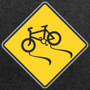 Road Sign bicycles way - Jersey Beanie