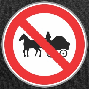 Road sign no horse with truck - Jersey Beanie