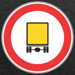 Road sign yellow truck - Jersey Beanie