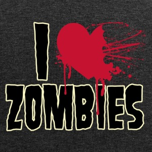 i love zombies - Jersey Beanie