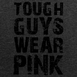 Hard guys wear pink funny sayings - Jersey Beanie