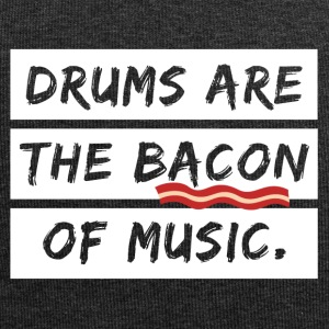 Drummer the Bacon of music cool sayings - Jersey Beanie