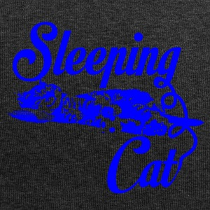 Sleeping cat blue - Jersey Beanie