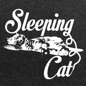 Sleeping cat white - Jersey Beanie