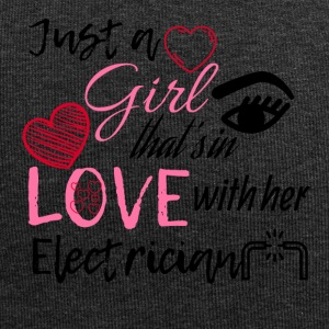 Just a girl that's in love with her Electrician - Jersey Beanie