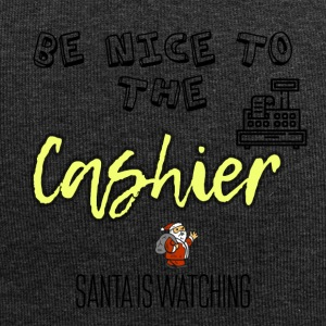 Be nice to the cashier because Santa is watching - Jersey Beanie