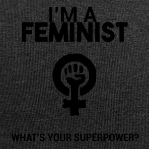 I am a feminist, what's your super power? - Jersey Beanie