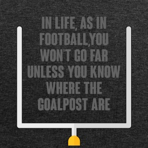 Football: In LIfe, As in football, You Will not Go - Jersey Beanie