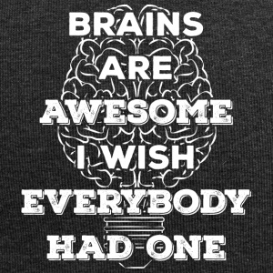 Brains are awesome! I wish everybody had 1 (light) - Jersey Beanie