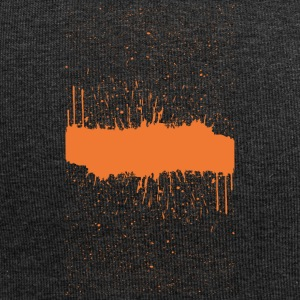 orange brush sketch - Jersey Beanie