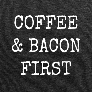 coffee and bacon first - Jersey Beanie