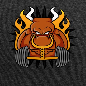 Gym Workout T-shirt Angry Testosterone Bull - Jersey Beanie