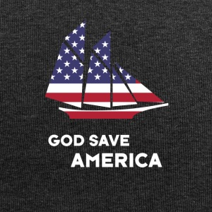 america sail USA Flag God Bless America - Jersey Beanie