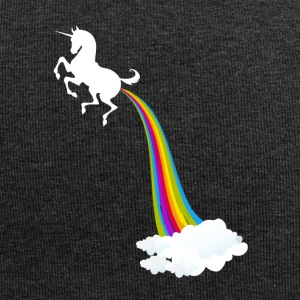 Unicorn Farting Arcobaleno - Beanie in jersey