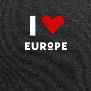 I Love Europe eu heart red love fun statement Demo - Jersey Beanie