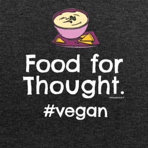 "Vegan T-Shirt ""Food for Thought. #vegan"" - Jersey Beanie"