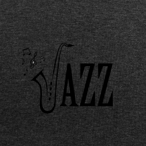 Cool Jazz Music Shirt, Saxophone and Musical notes - Jersey Beanie
