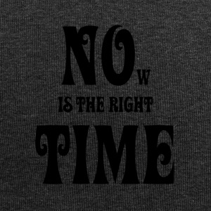 NOW IS THE RIGHT TIME - NO TIME, black - Jersey Beanie