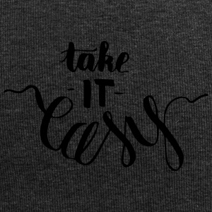 take it easy - creative, witty lettering - Jersey Beanie