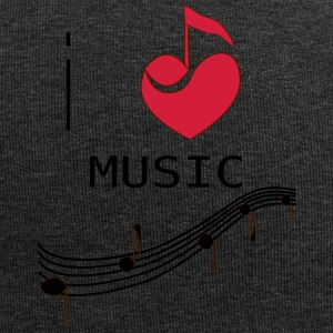 I_LOVE_MUSIC - Beanie in jersey