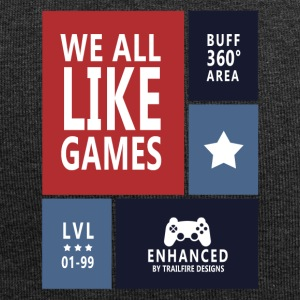 We all like games - Jersey Beanie
