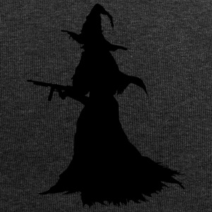 Witch with Assault Rifle / AK for Halloween - Jersey Beanie