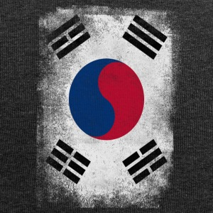 South Korea Flag Proud Korean Vintage Distressed - Jersey Beanie