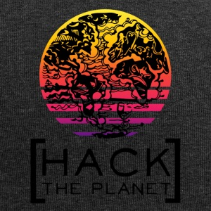 Hack il pianeta T-shirt motto - Beanie in jersey