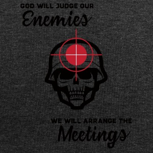 Military / Soldiers: God Will Judge Our Enemies. We - Jersey Beanie