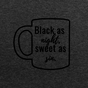 Kaffee: Black as night, sweet as sin. - Jersey-Beanie