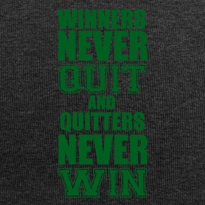 Football: Winners never quit and quitters never win - Jersey Beanie