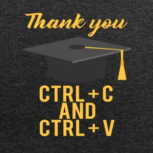 High School / Graduation: Thank you CTRL + C and CTRL - Jersey Beanie