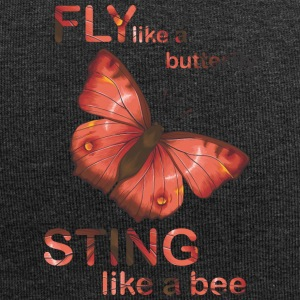 fly like butterfly sting like a bee - Jersey Beanie