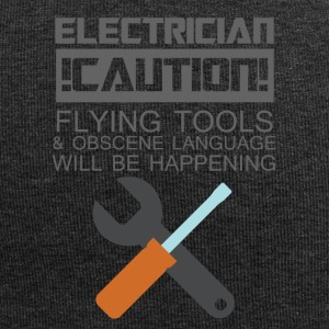 Electrician: Electrician. Caution! Flying Tools & - Jersey Beanie