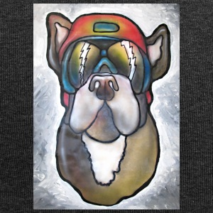 Bulldog with sunglasses and helmet - Jersey Beanie