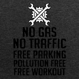 Bicycle: No gas. No traffic. Free parking. - Jersey Beanie